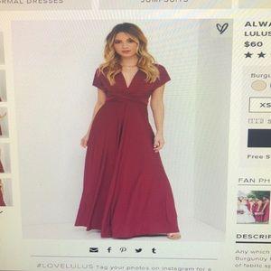 Burgundy convertible bridesmaids dress